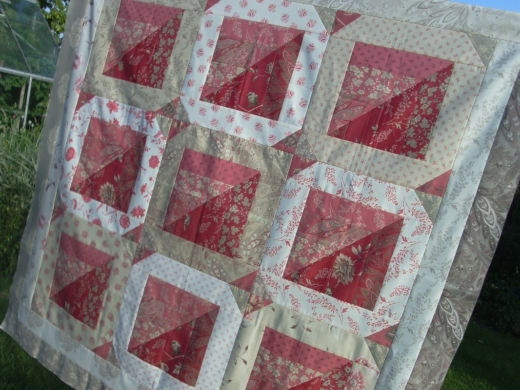 French general fabrics nicola foreman quilts for Red door design quilts